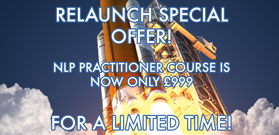 Relaunch NLP Practitioner special offer